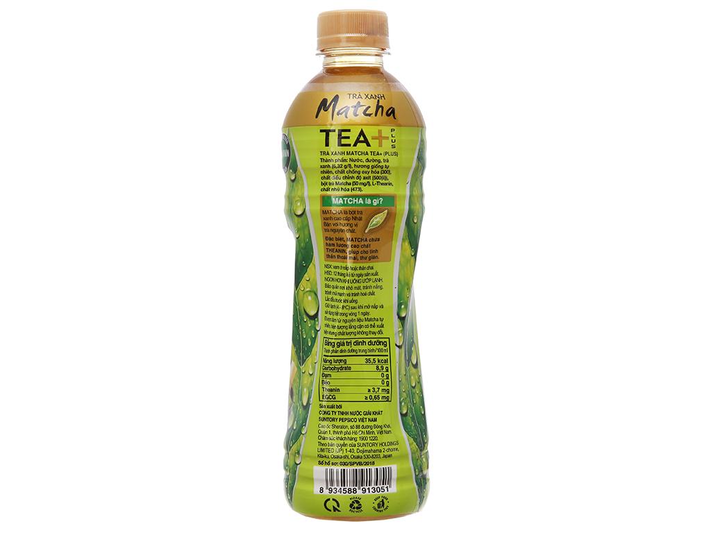 Trà xanh matcha Tea Plus 455ml 3