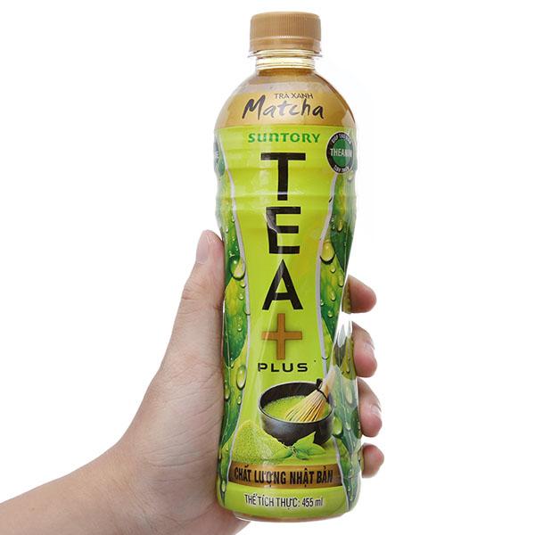 Trà xanh matcha Tea Plus 455ml