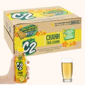 Thùng 24 chai C2 hương chanh 360ml