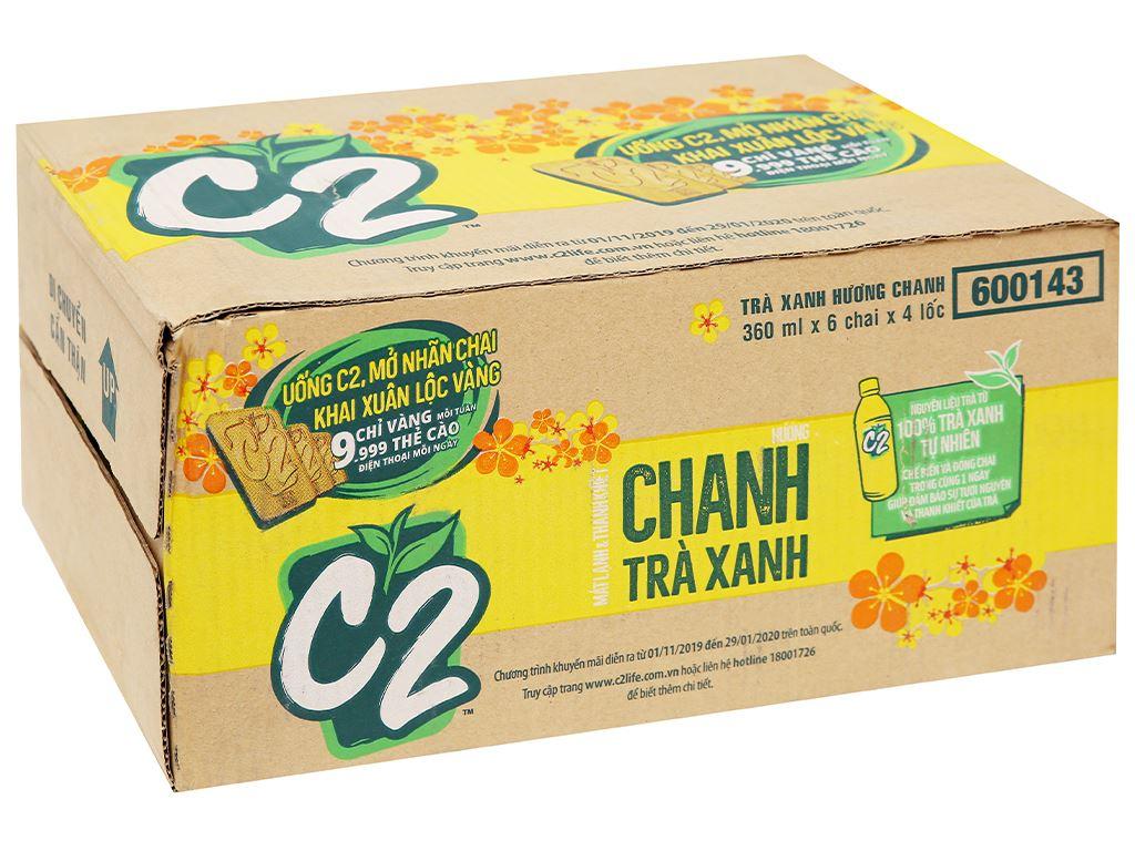 Thùng 24 chai trà xanh C2 hương chanh 360ml 7