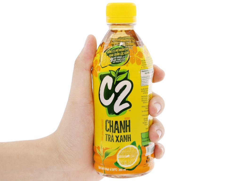 Thùng 24 chai trà xanh C2 hương chanh 360ml 13