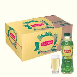 Thùng 24 chai trà xanh Lipton vị chanh mật ong 350ml