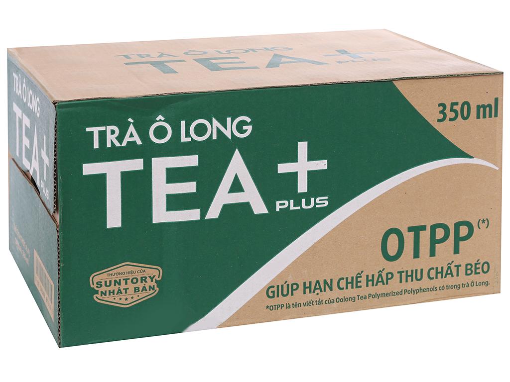 Thùng 24 chai trà ô long Tea Plus 350ml 1
