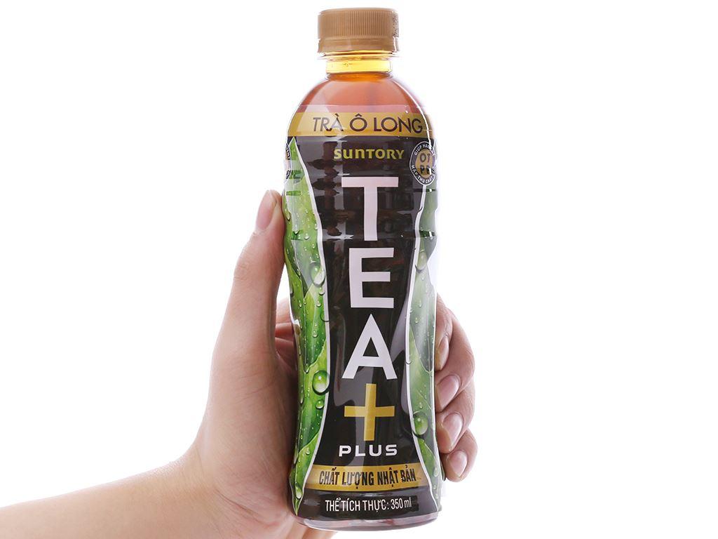 Thùng 24 chai trà ô long Tea Plus 350ml 7