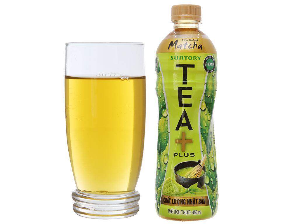 Thùng 24 chai trà xanh matcha Tea Plus 455ml 4