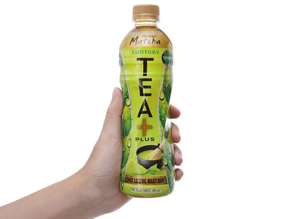 Thùng 24 chai trà xanh matcha Tea Plus 455ml 5
