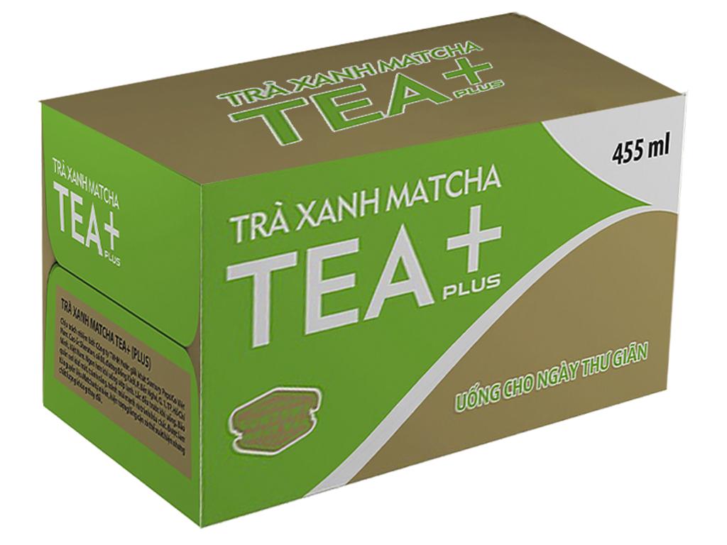 Thùng 24 chai trà xanh matcha Tea Plus 455ml 1