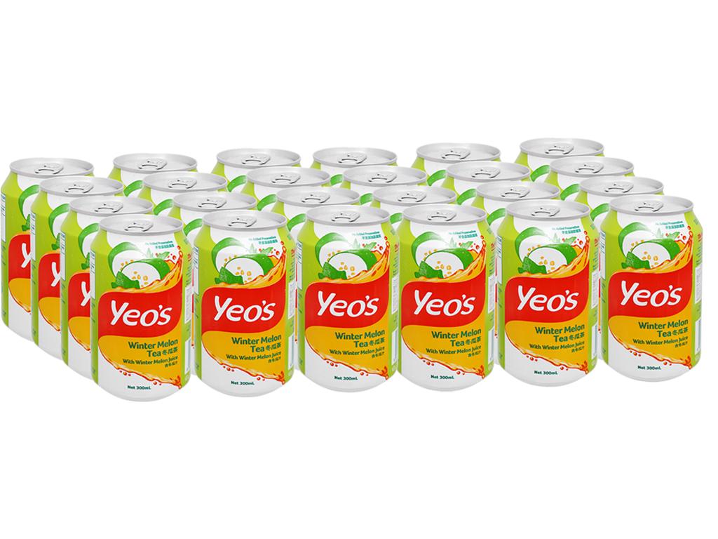 Thùng 24 lon trà bí đao Yeo's 300ml 1