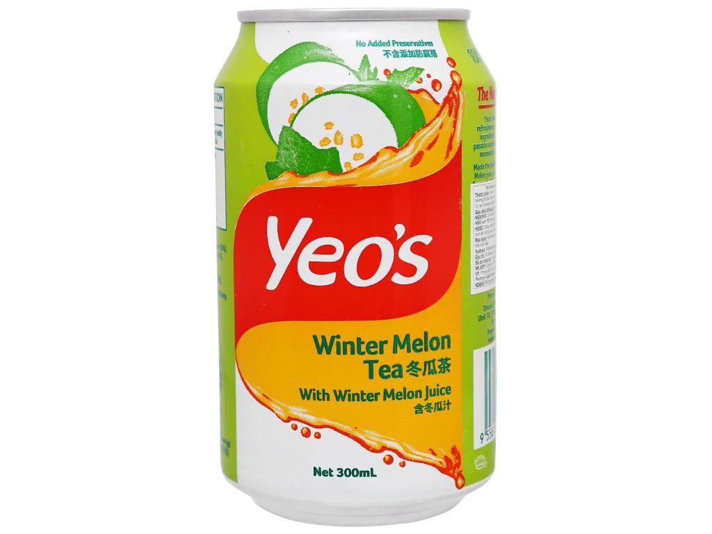 Thùng 24 lon trà bí đao Yeo's 300ml 4
