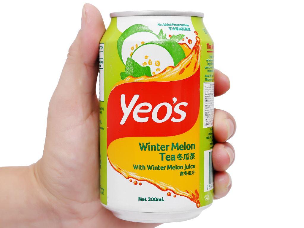 Thùng 24 lon trà bí đao Yeo's 300ml 7