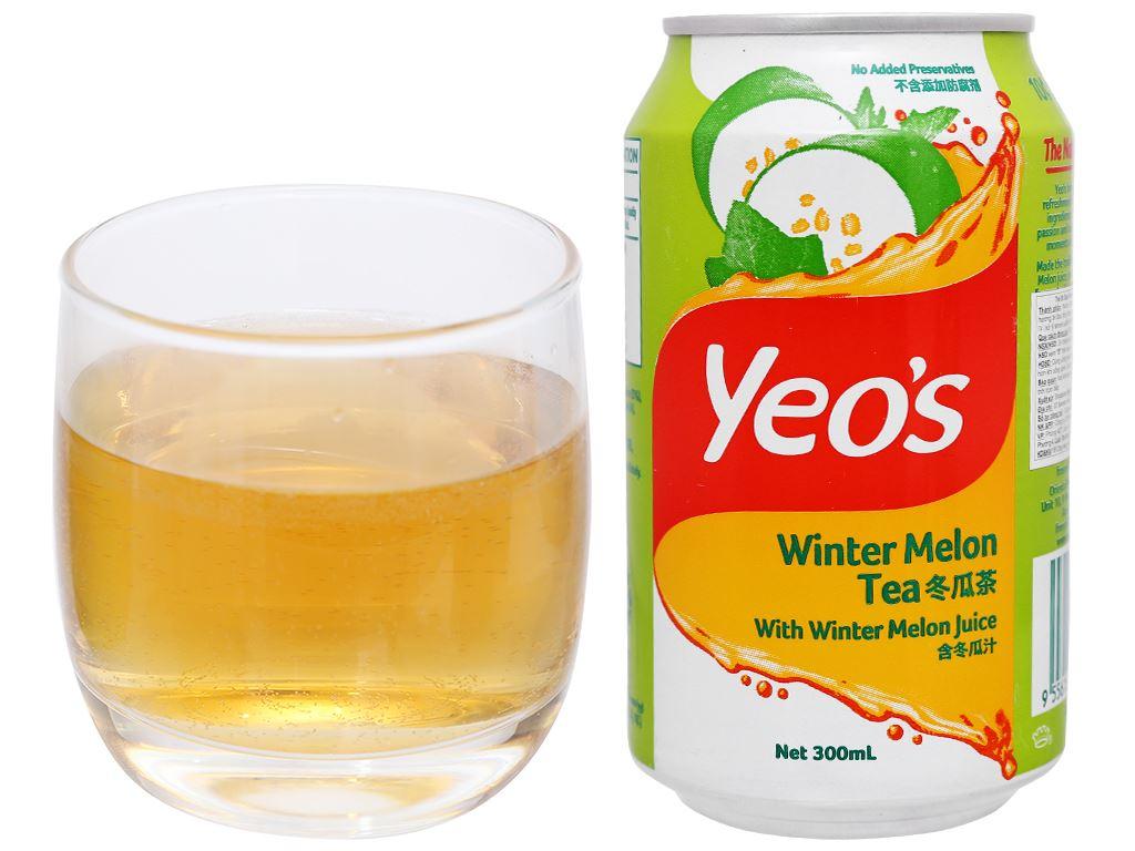 Thùng 24 lon trà bí đao Yeo's 300ml 8