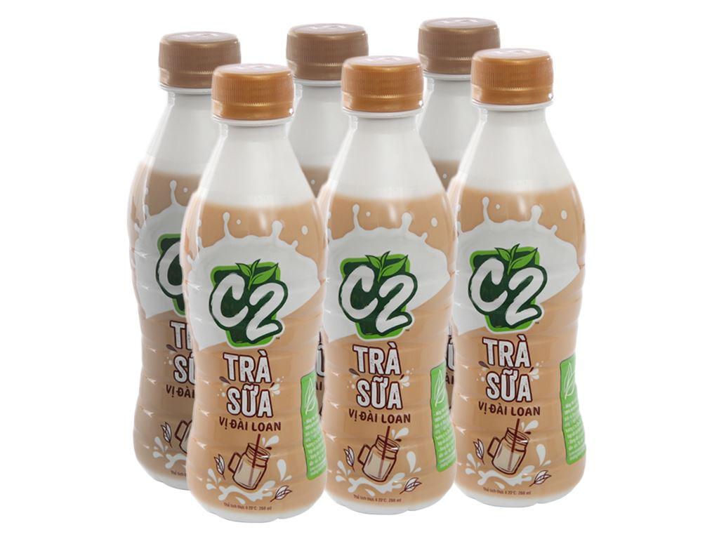 6 chai trà sữa Đài Loan C2 260ml 1