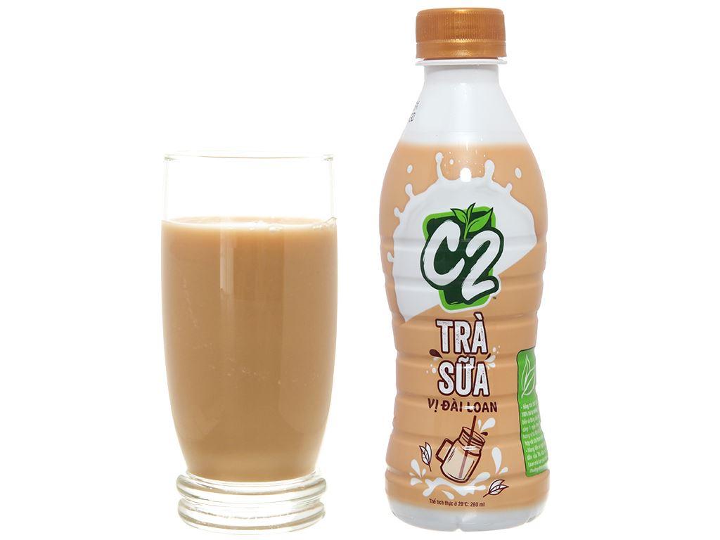 6 chai trà sữa Đài Loan C2 260ml 2