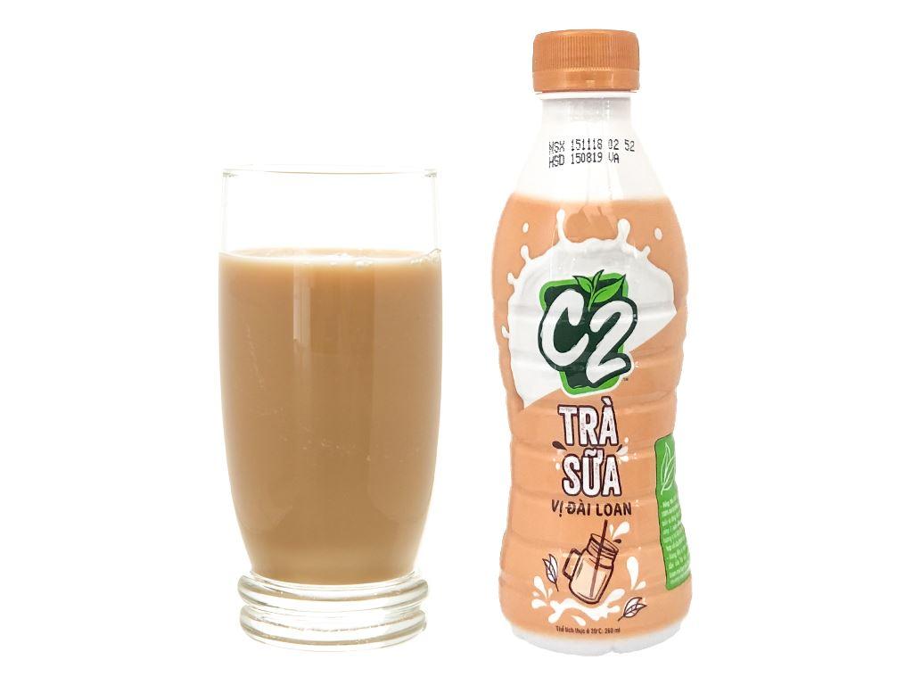 Thùng 24 chai trà sữa Đài Loan C2 260ml 2