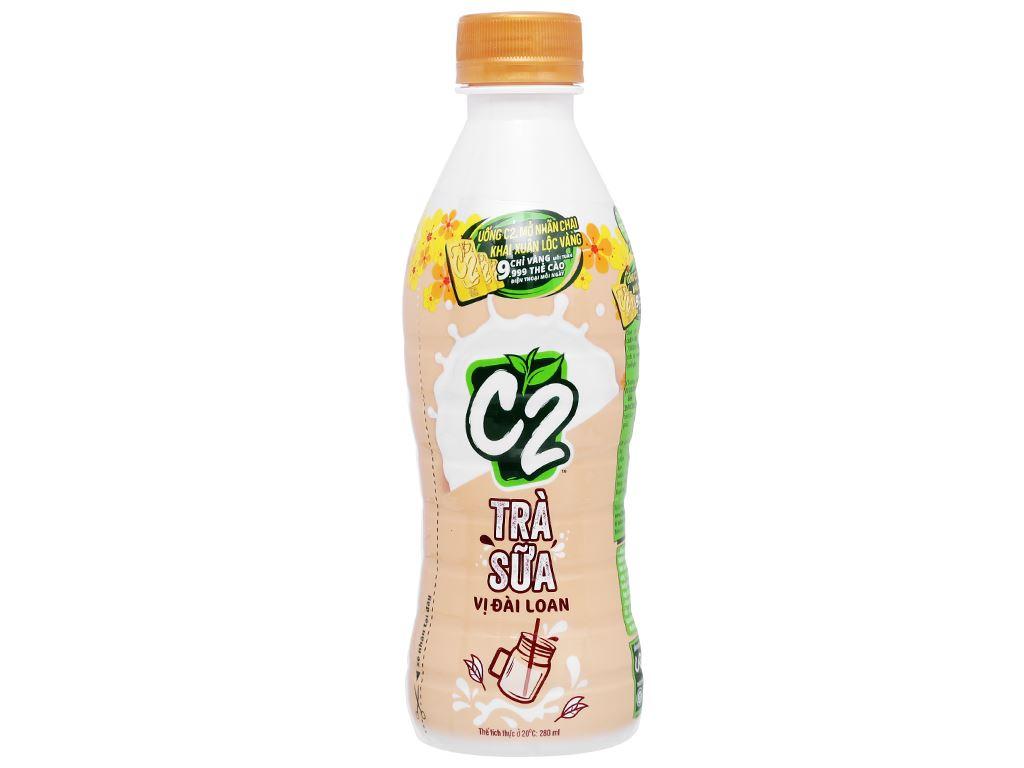 Thùng 24 chai trà sữa Đài Loan C2 280ml 3