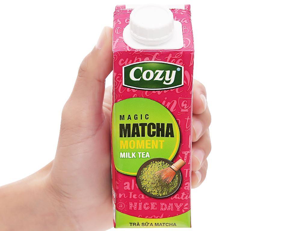 Thùng 24 hộp trà sữa matcha Cozy 225ml 12