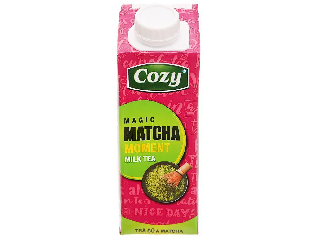 Thùng 24 hộp trà sữa matcha Cozy 225ml 4