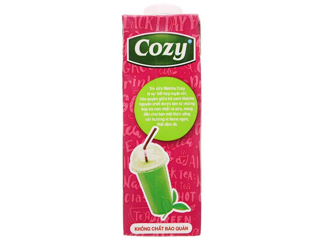 Thùng 24 hộp trà sữa matcha Cozy 225ml 5