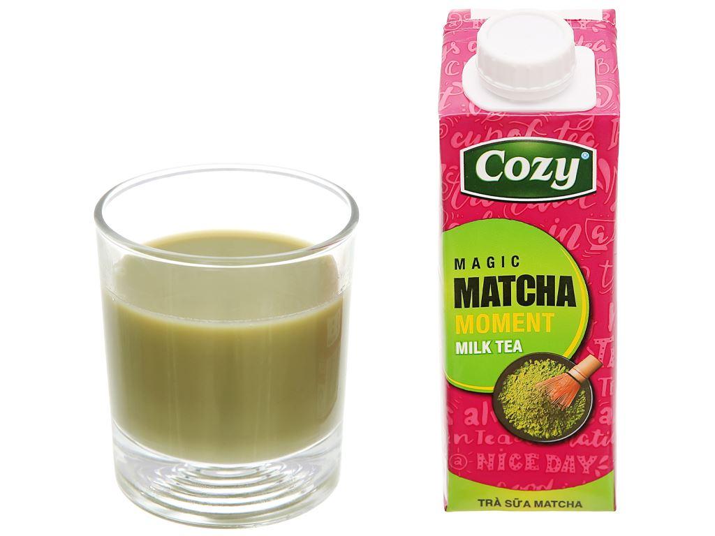 Thùng 24 hộp trà sữa matcha Cozy 225ml 10