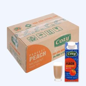 Thùng 24 hộp trà sữa đào Cozy 225ml