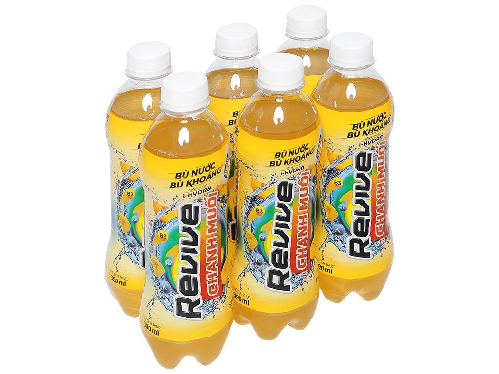 6 chai nước bù khoáng Revive chanh muối 390ml 1