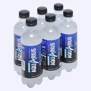 6 chai nước uống vận động Aquarius Zero 390ml