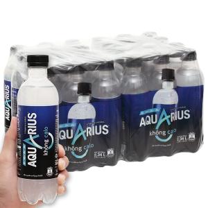 24 chai nước uống vận động Aquarius Zero 390ml