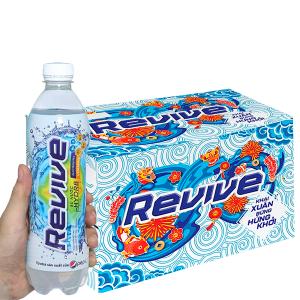 Thùng 24 chai nước bù khoáng Revive muối khoáng 500ml
