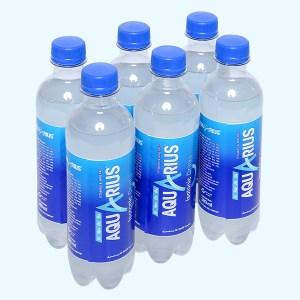 6 chai nước uống vận động Aquarius 390ml