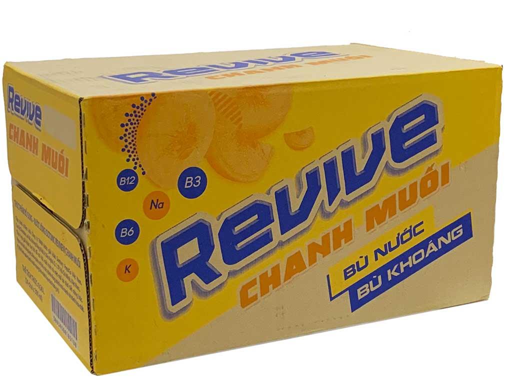 Thùng 24 chai nước bù khoáng Revive chanh muối 390ml 1