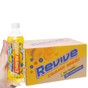 Thùng 24 chai nước bù khoáng Revive chanh muối 390ml