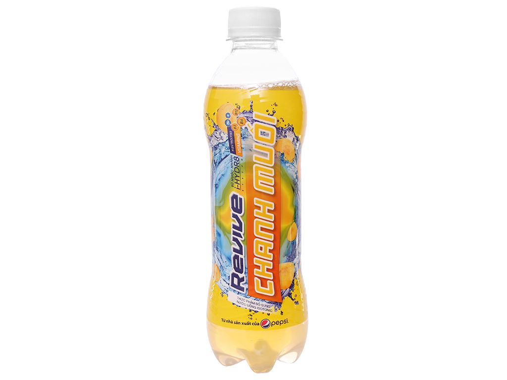 Thùng 24 chai nước bù khoáng Revive chanh muối 390ml 2