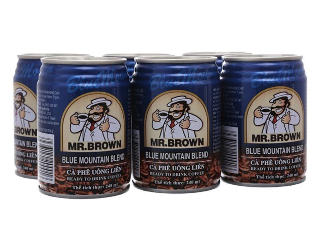 6 lon cà phê Mr.Brown Blue Mountain Blend 240ml 1