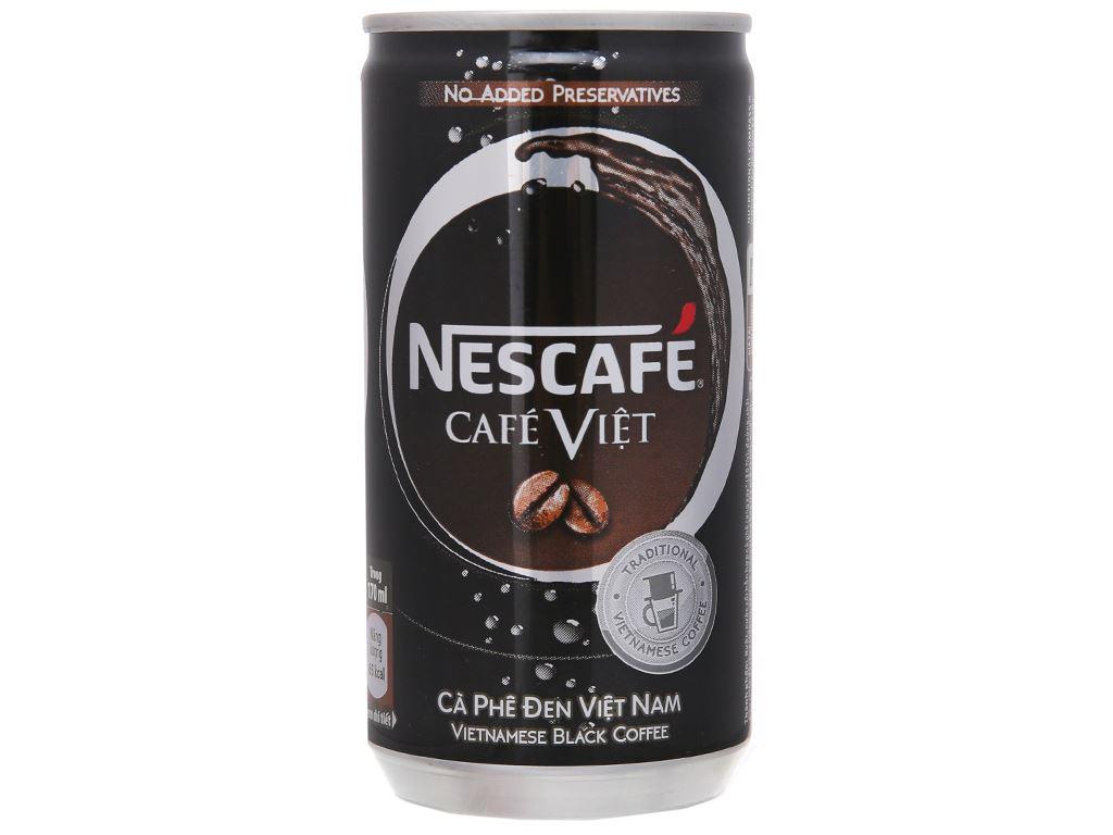 6 lon cà phê đen NesCafé Café Việt 170ml 2