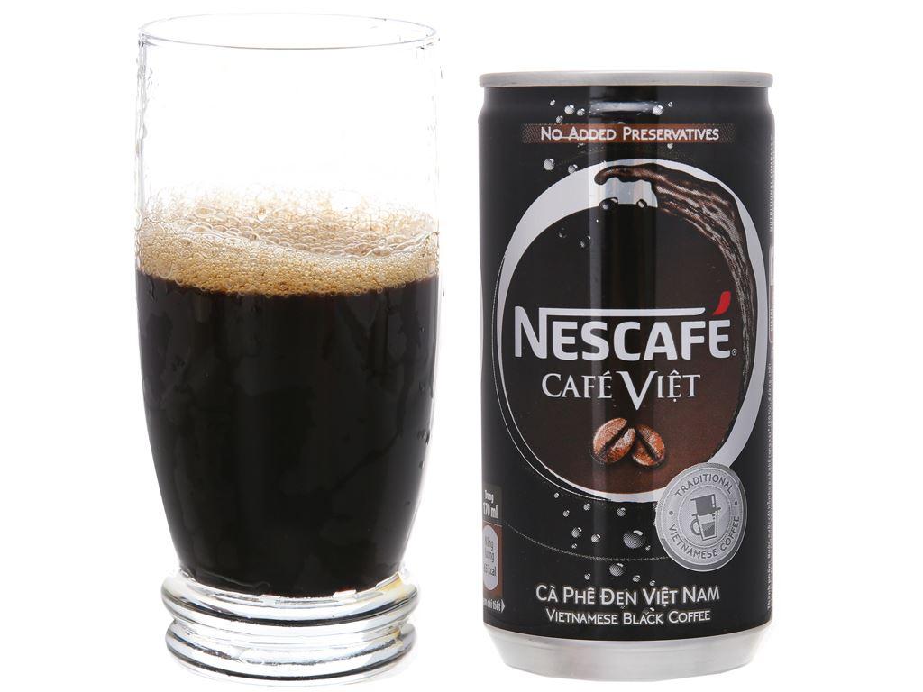6 lon cà phê đen NesCafé Café Việt 170ml 4
