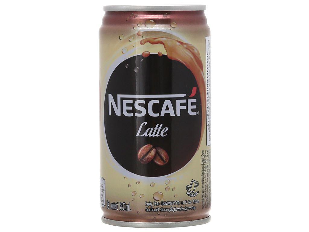 30 lon cà phê đen Kirin Latte 180ml 2