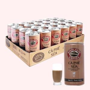 24 lon cà phê sữa Highlands 235ml