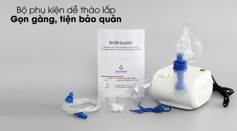 Gọn gàng, tiện bảo quản - Máy xông khí dung BioHealth NEB Easy