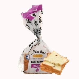 Bánh mì sandwich nho khô raisin Le Pain Dore gói 200g (8 lát)