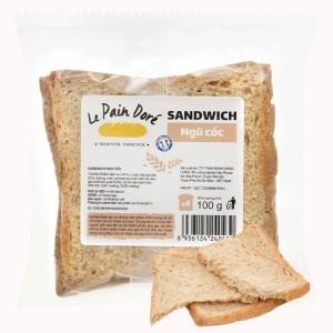 Bánh mì sandwich ngũ cốc Le Pain Dore gói 100g (4 lát)