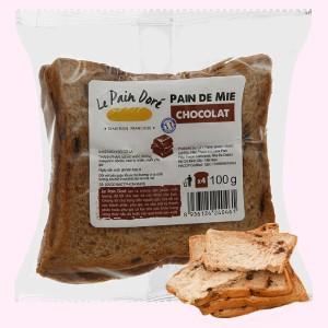 Bánh mì sandwich chocolat Le Pain Dore gói 100g (4 lát)