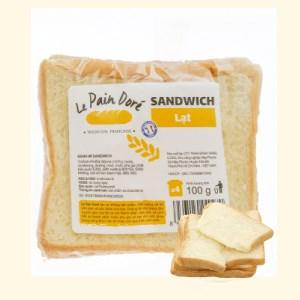 Bánh mì sandwich lạt Le Pain Dore gói 100g (4 lát)
