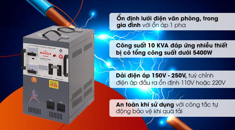 Ổn áp ROBOT 1 Pha 10KVA 150