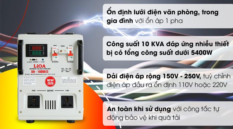 Ổn áp LiOA 1 pha 10kVA LiOA SH-10000II