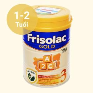 Sữa bột Frisolac Gold 3 lon 400g (1 - 2 tuổi)