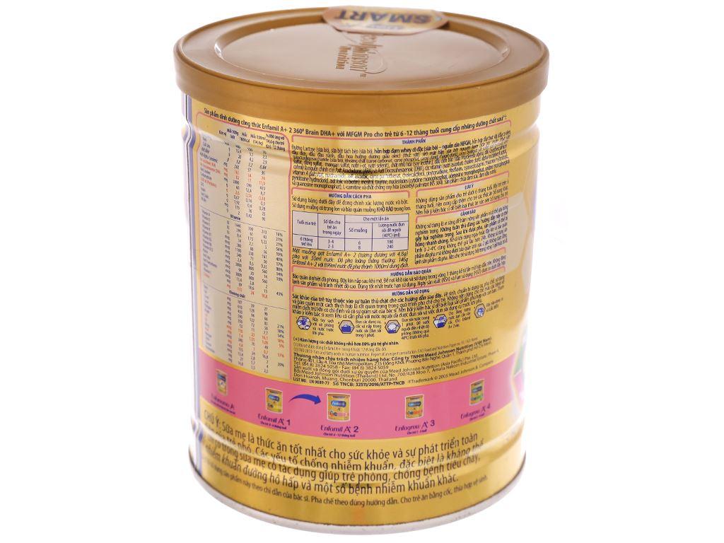 Sữa bột Enfamil A+ 2 lon 400g (6 - 12 tháng) 4