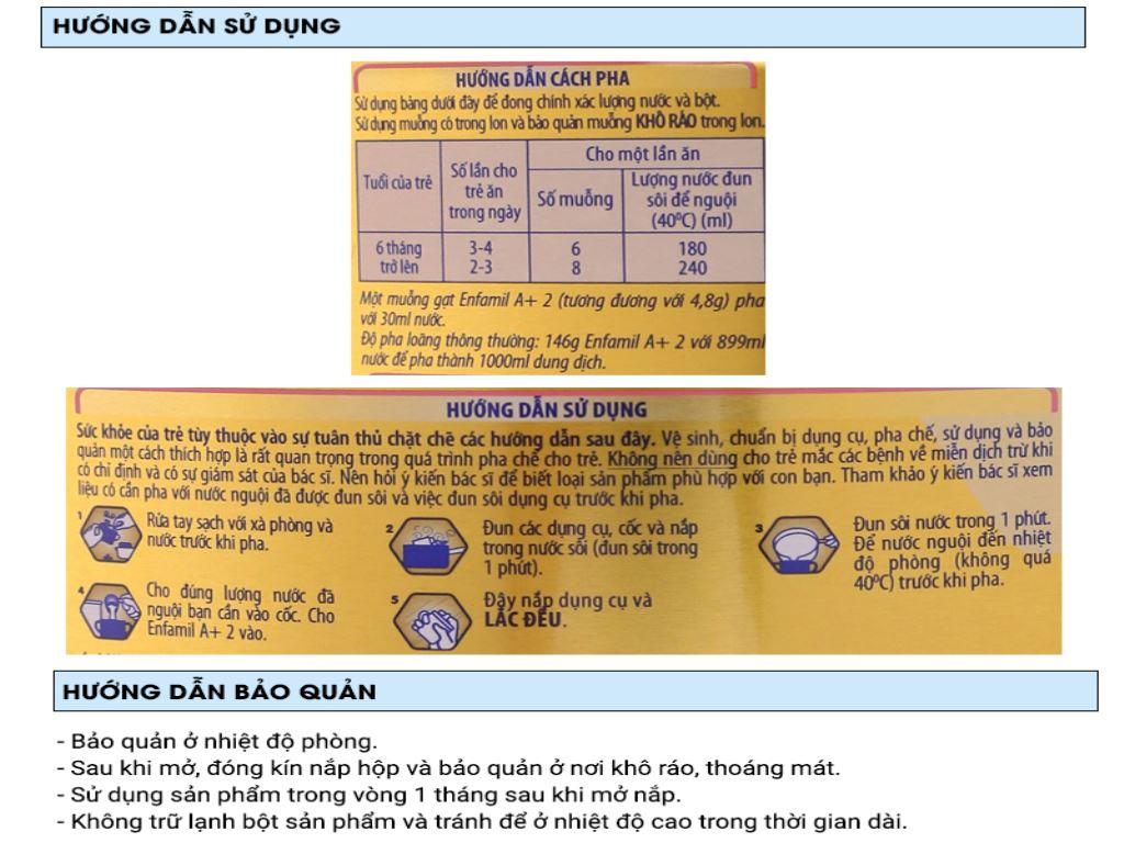 Sữa bột Enfamil A+ 2 lon 400g (6 - 12 tháng) 6