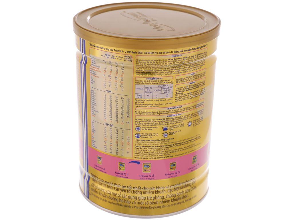 Sữa bột Enfamil A+ 2 lon 900g (6 - 12 tháng) 4