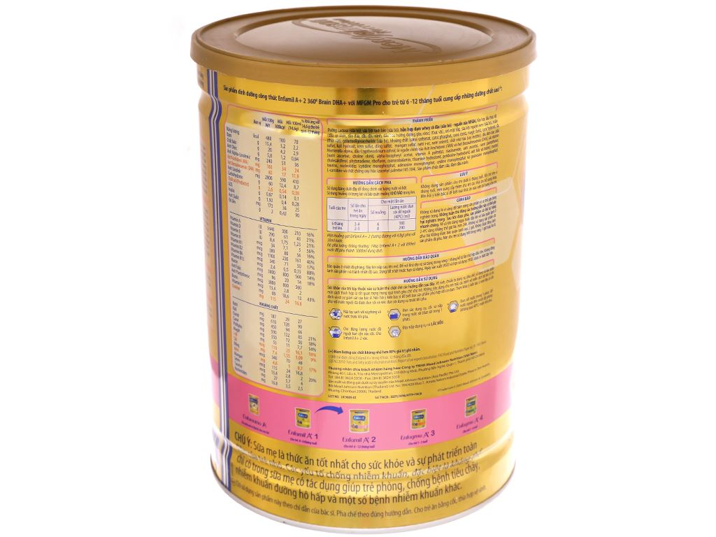 Sữa bột Enfamil A+ 2 lon 1.7kg (6 - 12 tháng) 4