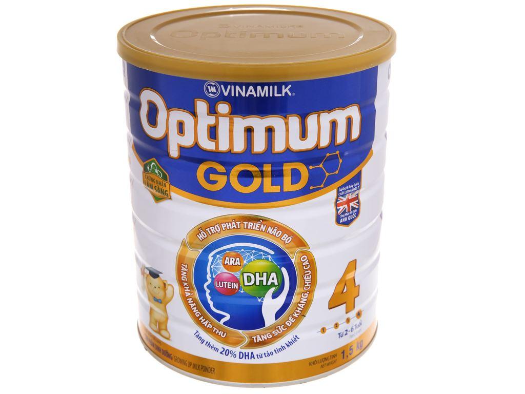 Sữa bột Optimum Gold 4 lon 1.5kg (2 - 6 tuổi) 2